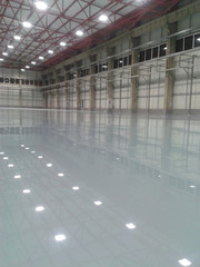 Construction of industrial flooring and epoxy flooring.